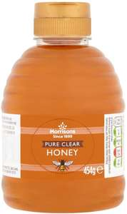 Morrisons Squeezy Pure Clear Honey, 454g £1 (Minimum £15 spend + £3.99 delivery or free with 4 selected items) at Amazon Pantry