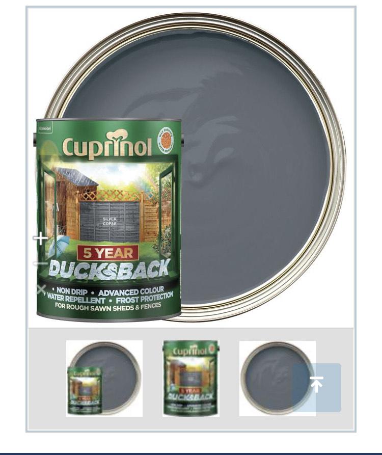 Cuprinol 5 Year Ducksback Matt Shed & Fence Treatment - Silver Copse 5L £14 + £7.95 del @ Wickes