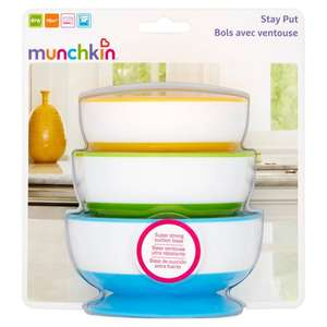 Munchkin Baby Stay Put Bowls - 3 per pack for £3 @ Morrisons