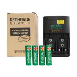 AA AAA and 9V NiMH Mains Battery Charger with 4x AA 2000mAh Rechargeable Batteries - £9.99 @ 7DayShop