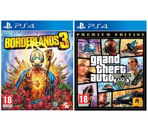 PS4 Borderlands 3 & Grand Theft Auto V: Premium Edition Bundle for £29.99 delivered @ Currys PC World