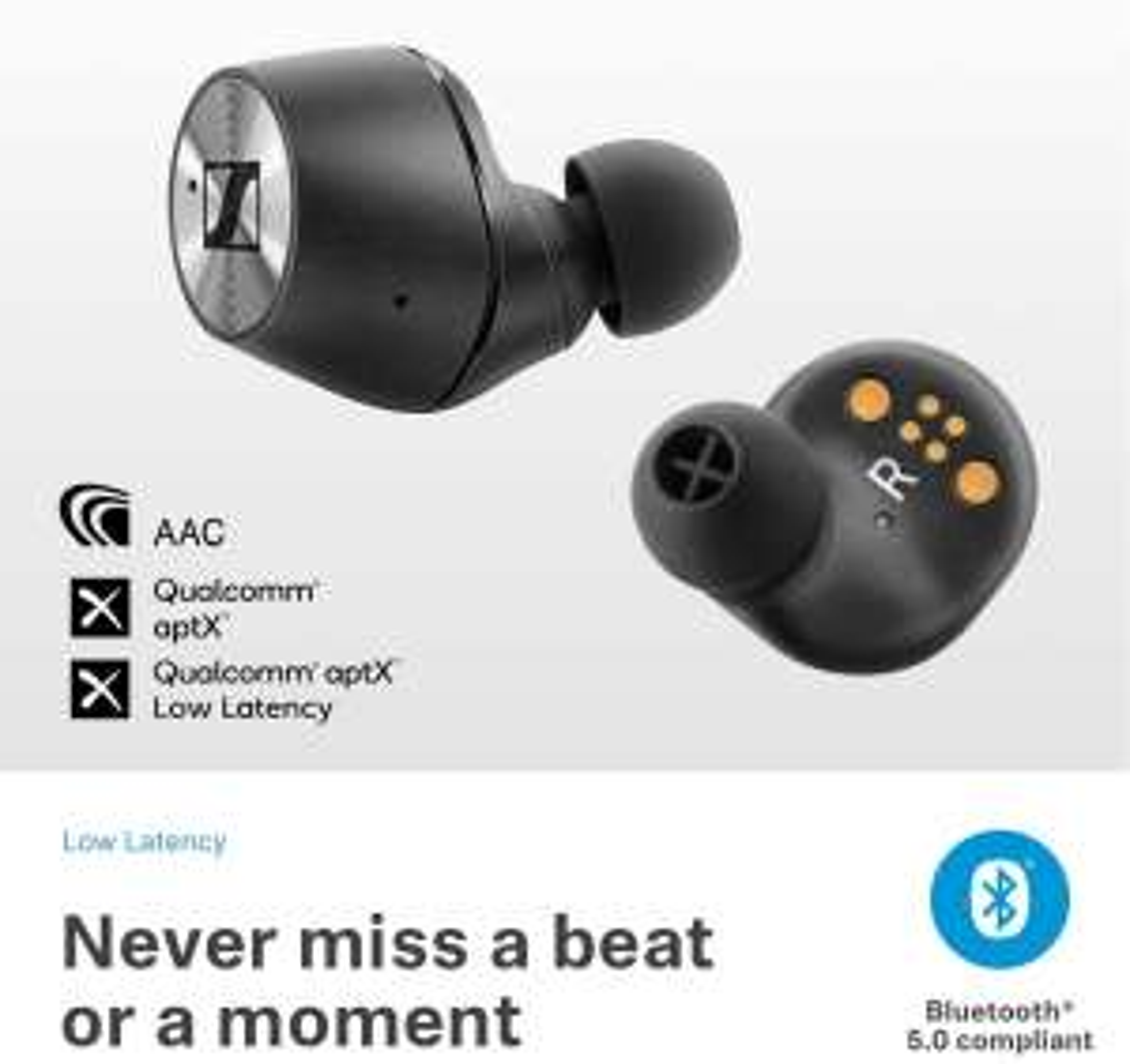 Sennheiser MOMENTUM True Wireless In-Ear Headphones with Touch Control - £135 via Unidays