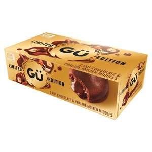 2 x 95g, Gü Hot Chocolate Praliné Molten Middles, Limited Edition. £1 Heron Foods Smallthorne.