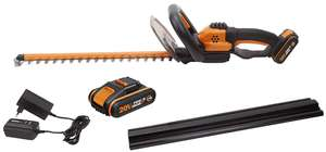 WORX WG261E.1 18V (20V MAX) Cordless 46cm Hedge Trimmer with 2 Batteries - £79.99 delivered @ Amazon