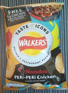 Walkers Crisps - Nandos Peri - Peri Chicken 6 X 32.5g for £1 at Home Bargains - Loudwater