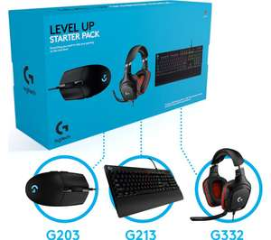 LOGITECH Keyboard, Mouse & Headset Starter Pack, £65 at Currys PC World