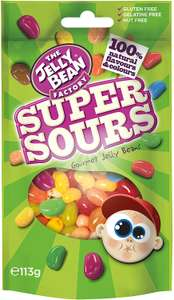 Jelly Bean super sours 113g £1.89 / 50g 79p at Amazon (£1.80 with S&S / + £4.49 NP)
