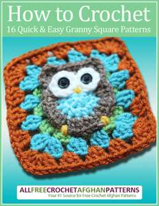 How to Crochet: 16 Quick and Easy Granny Square Patterns Kindle Edition - free at Amazon