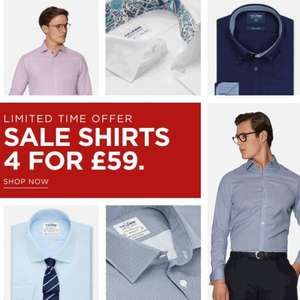 TM Lewin 4 sale shirts for £59 - £4.95 delivery / free over £100