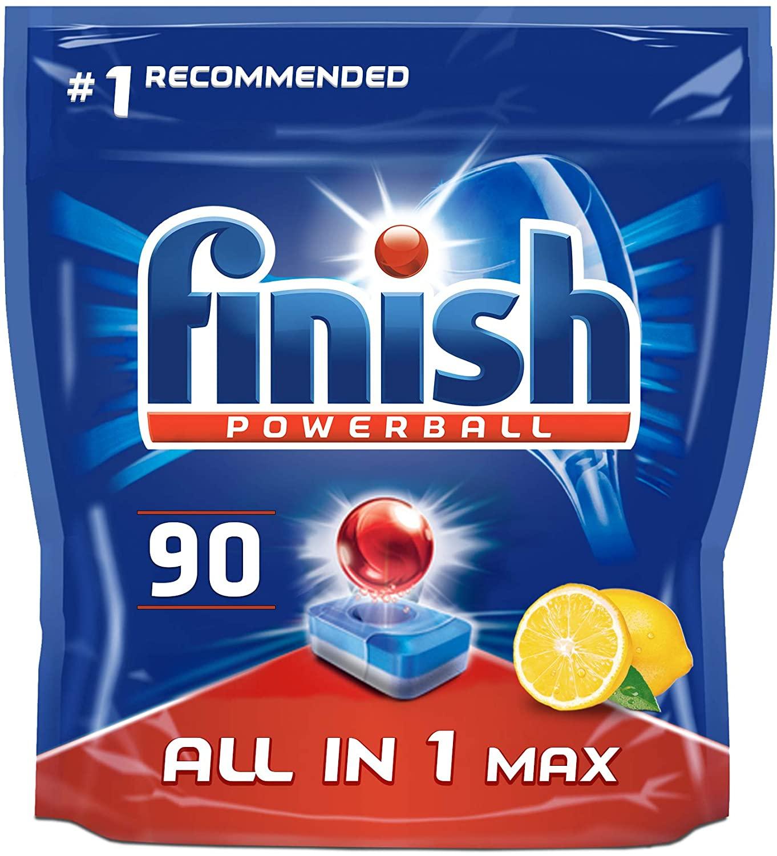 Finish All in 1 Max Dishwasher Tablets Lemon Scent, 90 Tablets £9.97 prime / £14.46 non prime (£9.47 S&S) @ Amazon