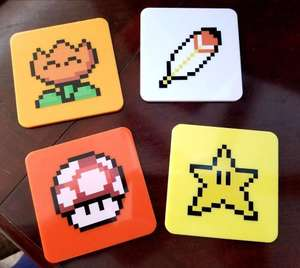 Officially licensed Super Mario Power Up Coasters £4.99 delivered, using code @ Zavvi
