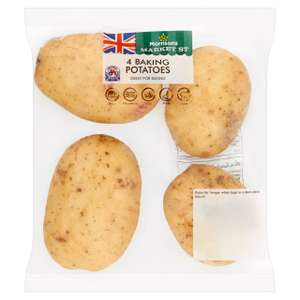 Morrisons Baking Potatoes 4 Pack 50p @ Morrisons