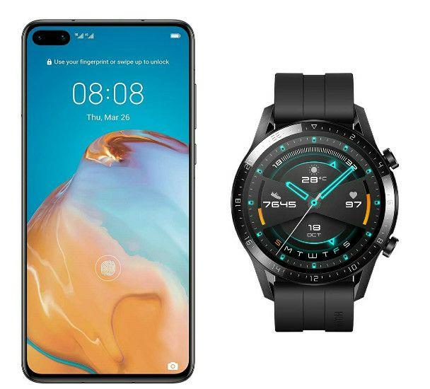 Huawei P40 5G Smartphone 128GB 6GB + Free Huawei Watch GT2 - £581.29 @ Amazon