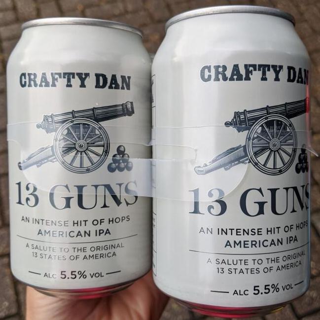 Crafty Dan 13 Guns IPA 5.5% 4x330ml £2.49 at Home Bargains ( Gosport)