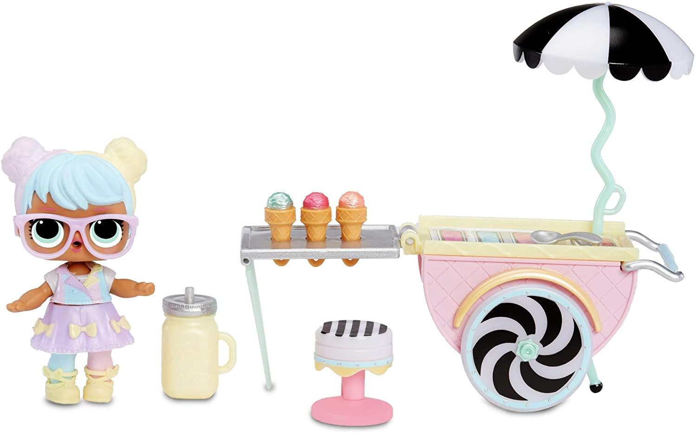 LOL Surprise furniture set, BonBon doll with ice cream cart - £10.99 (Prime) £15.48 (Non Prime) @ Amazon