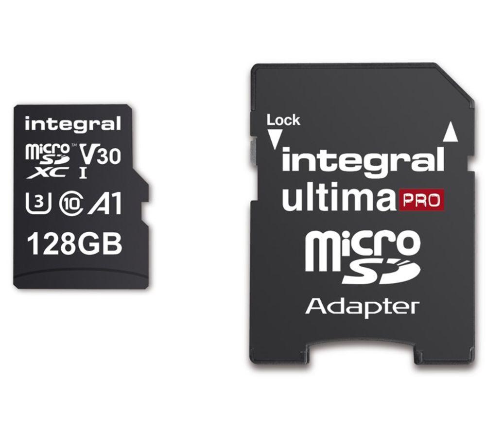 Integral 128GB UltimaPRO Micro SD Card (SDXC) UHS-I U3 + Adapter - £14.99 @ Currys PC World
