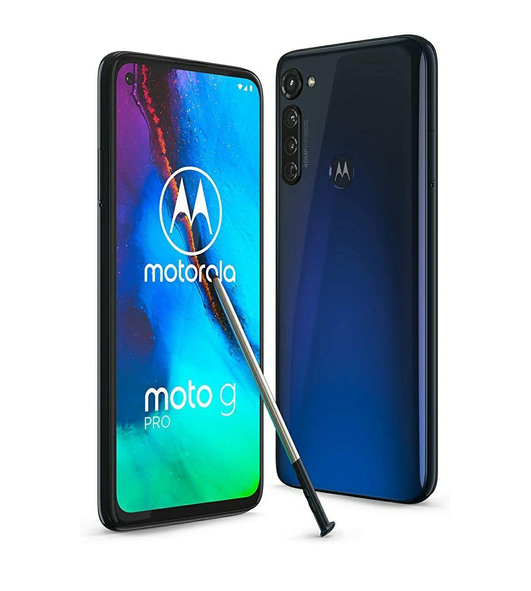 Motorola G8 Pro Indigo - 128 GB Storage - 4 GB RAM Smartphone NFC 4000mAh Stylus - £289.99 @ Amazon