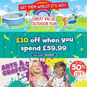 £10 off when you spend £59.99 using code - works with sale + Free Delivery @ The Entertainer