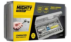 Mighty Toolware 40-Piece socket driver set for £6.98 delivered @ Groupon