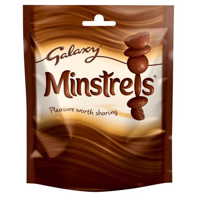 Galaxy minstrels 118g bags - 38p at Tesco Express in Liden, Swindon