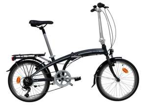 """Lightweight alloy 7 speed 20"""" wheel folding bike with bag, pump, lights, carrier, stand, suspension saddle - £294.99 delivered @ Costco"""