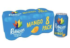 Rubicon Sparkling Mango Juice Drink 8 X330ml Cans £2.75 @ Tesco