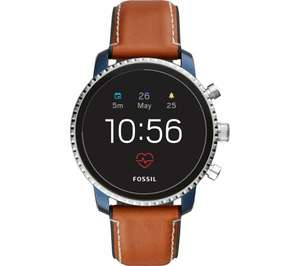 FOSSIL Explorist HR Gen 4 - FTW4016 Smartwatch - Blue & Silver, Leather Strap - £109 Delivered @ Currys PC World
