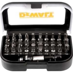 DeWalt Torsion Screwdriver Bit Set 31 Piece - £9.99 @ Toolstation (Free C&C / £5 Delivery)