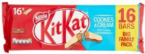 KITKAT 2 Finger Cookies and Cream Biscuit, 16 bars - £2 (+£4.49 NP) @ Amazon