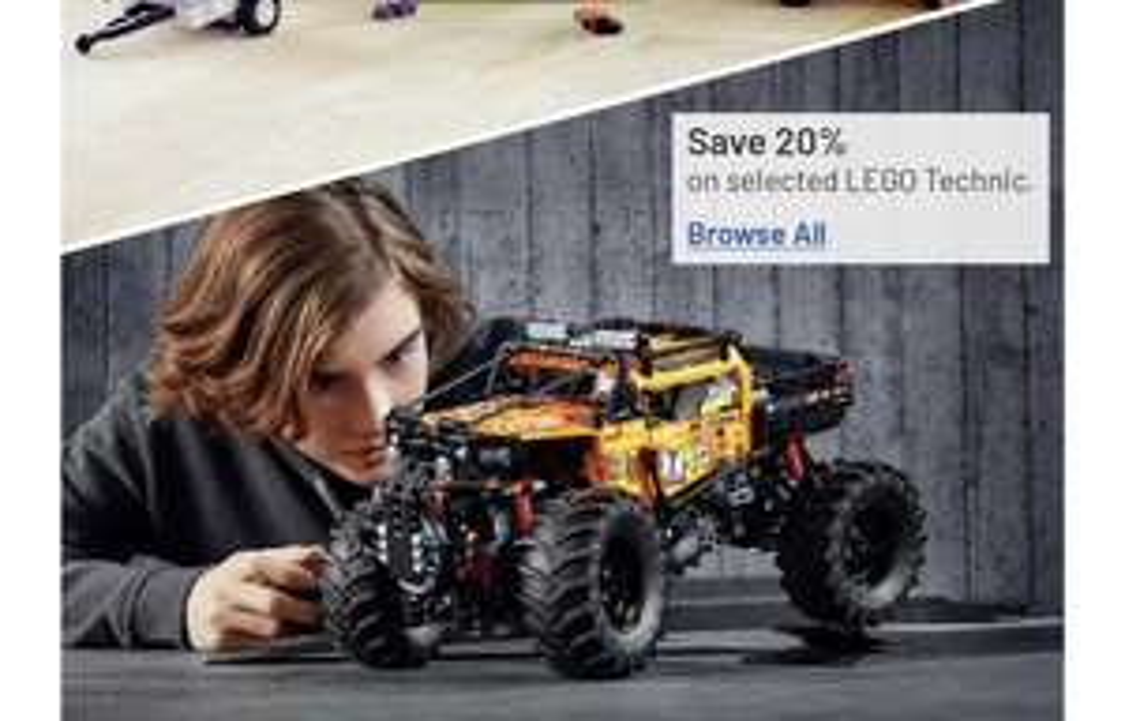 20% OFF on lego technic toys @ Argos