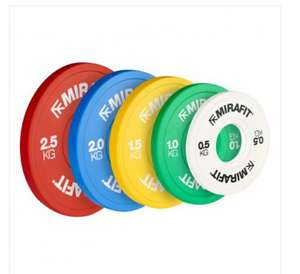 Mirafit Olympic plates Ranging from 0.5kg to 2.5kg from £13.95 to £39.95 + £4.95 delivery at Mirafit