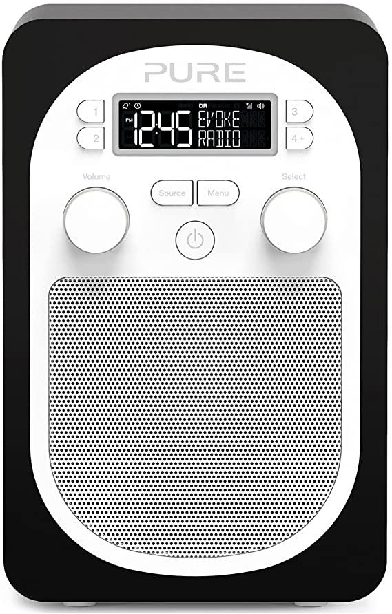 Pure Evoke D1 Portable Digital DAB/FM Radio with Alarm and Kitchen Timer – Black £46.95 @ Amazon