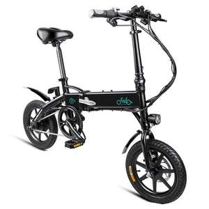 "FIIDO D1 Folding Electric Moped Commuter Bike Three Riding Modes 14"" Tyres 250W Motor 25km/h 10.4Ah Lithium Battery - £358.48 @ geekbuying"