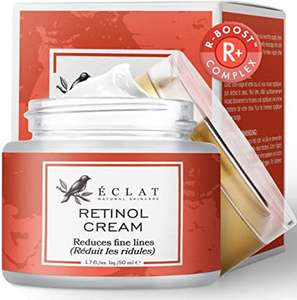 Retinol Moisturizer Cream - £6.98 (Prime) £11.47 (Non Prime) @ Sold by Eclat Beauty and Fulfilled by Amazon.