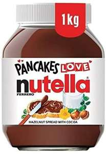 Nutella Hazelnut Chocolate Spread, 1 kg now £2.85 (Minimum £15 spend + £3.99 delivery or free with 4 selected items) @ Amazon Pantry