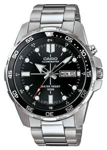 Casio Men's Stainless Steel Rotating Bezel Backlight Watch mtd-1079d-1avef £63.94 delivered at Argos