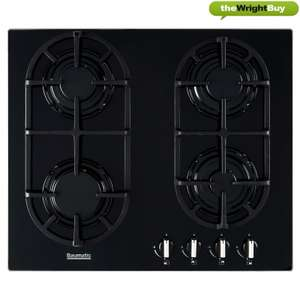 Baumatic BGG60 Hob Gas on Glass 60cm 4 Burners in Black - £71.99 Using Code @ eBay / thewrightbuyltd