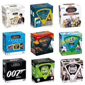 Trivial Pursuit Games at £9.99 Each + Free Delivery Using Code - Dr Who / Friends Harry Potter / Rick & Morty - £9.99 Each @ Zavvi