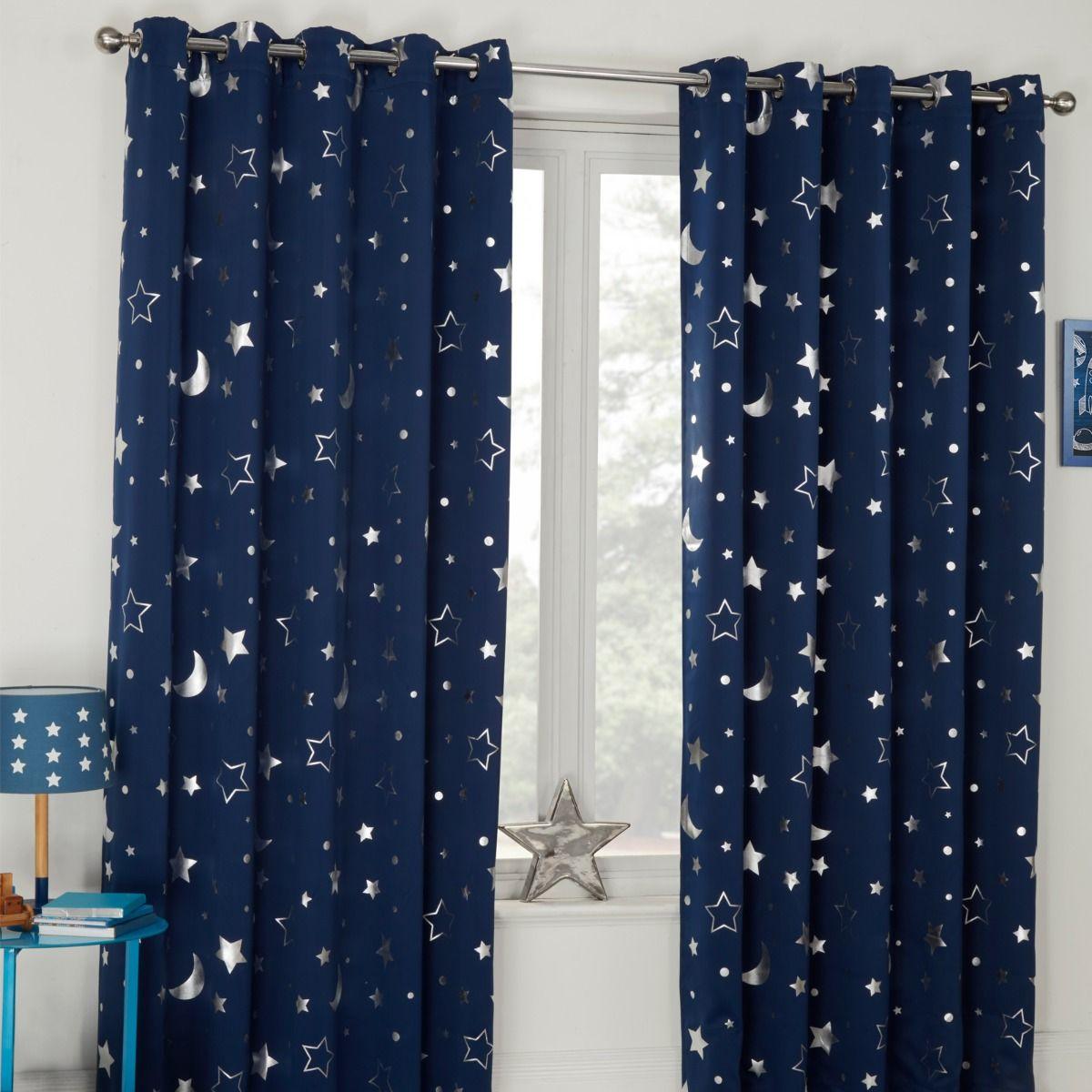 "Dreamscene Galaxy Kids Curtains 46"" x 54"" £11.98 delivered @ onlinehomeshop"