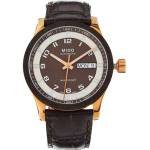 Mido Multifort Automatic Day-Date Brown Leather Watch M018.830.36.292.00 £249.99 @ TK Maxx
