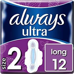 Always Ultra Long Sanitary Towels with Wings 12 Pads Super Absorbent (Size 2) - £1.40 (+£4.49 Non-Prime) @ Amazon