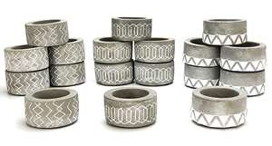 6 X Official Yankee Tribal Grey Stone Tealight Candle Holders £6 @ Yankee Bundles