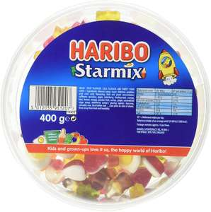 HARIBO Starmix 3.2kg bulk sweets, 8 x 400g tubs - £15.99 (£15.19 with S&S / + £4.49) @ Amazon