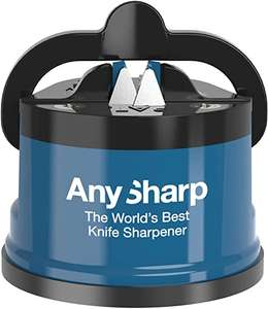 AnySharp Knife Sharpener with PowerGrip, Blue - £9.99 (+£4.49 Non-Prime) @ Amazon