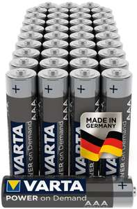 Varta Industrial AAA Alkaline Battery LR03 Pack of 40 - £11.98 (+£4.49 NP) @ Amazon