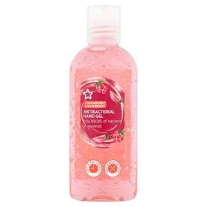 Superdrug Strawberry & Rasberry Sanitiser Hand Gel 100ml £1.25 + £3 delivery @ Superdrug