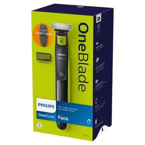 Philips Oneblade Face Trimmer With Travel Case £28.50 @ Tesco