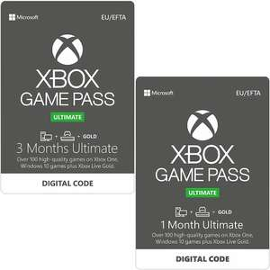 Xbox Game Pass Ultimate 3+1 Month Subscription - £25.85 @ Shopto