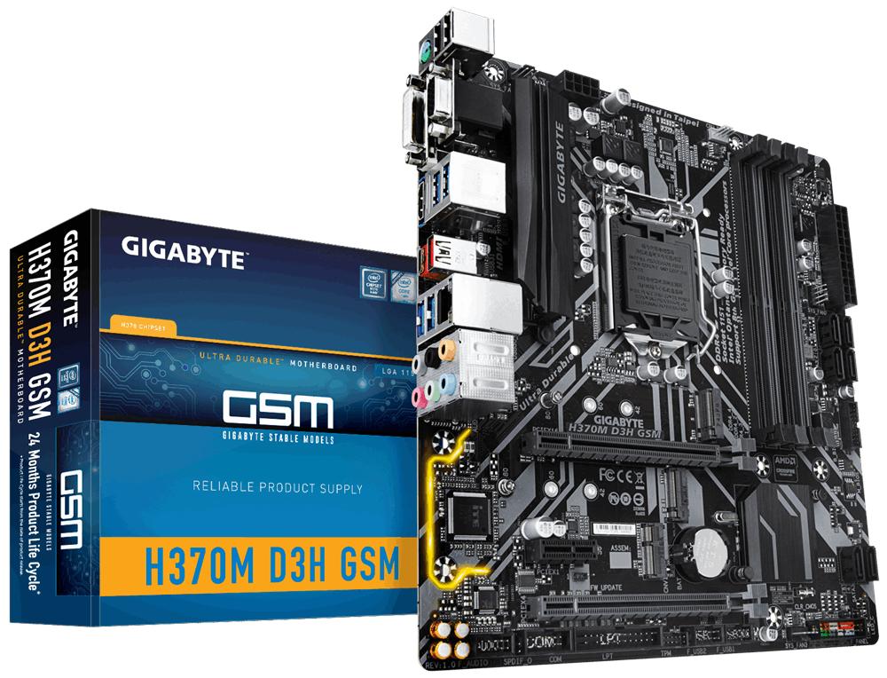 Gigabyte H370M D3H GSM Motherboard (Socket 1151/H370/DDR4/S-ATA 600/Micro ATX) £62.16 @ Tech Next Day