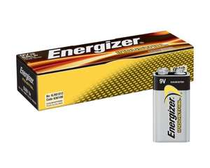 12 pack Energiser Industrial 9v batteries £12.94 prime / £17.43. NonPrime at Amazon